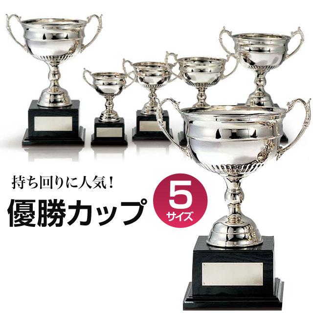 優勝カップ:真鍮製シルバーカップ(高さ380x口径203mm)C1140-A【文字彫刻無料】【送料無料】【木製ケース入り】[FP/H-2S]