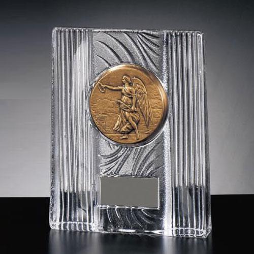 記念楯:クリスタル女神メダル付楯(高さ175mm 幅140mm)KF5020-B【文字彫刻無料】【送料無料】[FP/P4]