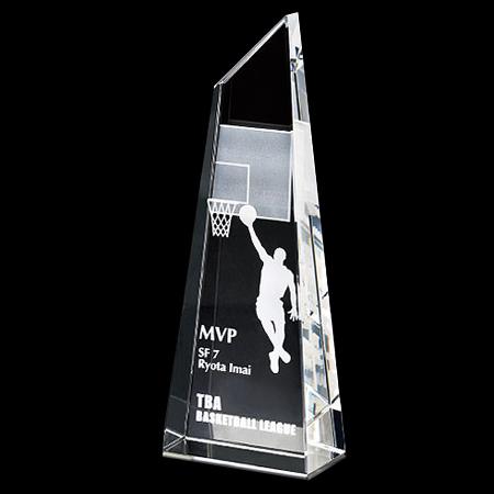 2D加工:クリスタルトロフィー(高さ190mm)VOT210C【セミオーダー】【レーザー加工代無料】【送料無料】[M]