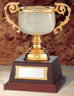 大理石優勝カップ:オニックスカップ(高さ245x口径105mm)MC1315C【文字彫刻無料】【送料無料】【木製ケース入り】[M/K5]