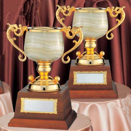 ゴルフ専用・大理石優勝カップ:オニックスカップ(高さ350x口径135mm)MC1320-A【文字彫刻無料】【送料無料】[M/K4]
