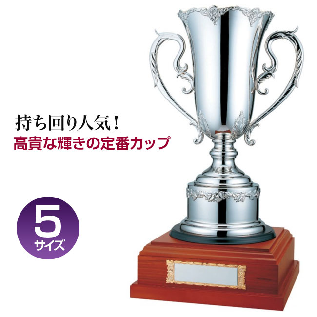 優勝カップ:持ち回りカップ(高さ400x口径135mm)PS1108-D【文字彫刻無料】【送料無料】【木製ケース入り】[M/K4]