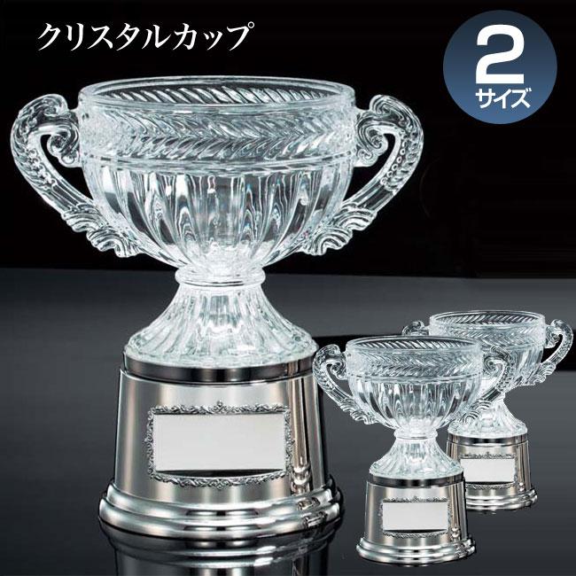 優勝カップ:クリスタルカップ(高さ275x口径175mm)VC1045-A【文字彫刻無料】【送料無料】【木製ケース入り】[M/P35S]
