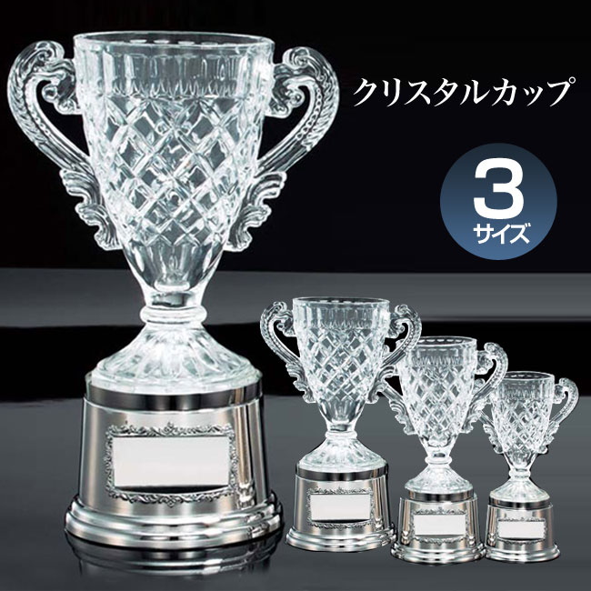 優勝カップ:クリスタルカップ(高さ225x口径80mm)VC1050-C【文字彫刻無料】【送料無料】[M/P38S]