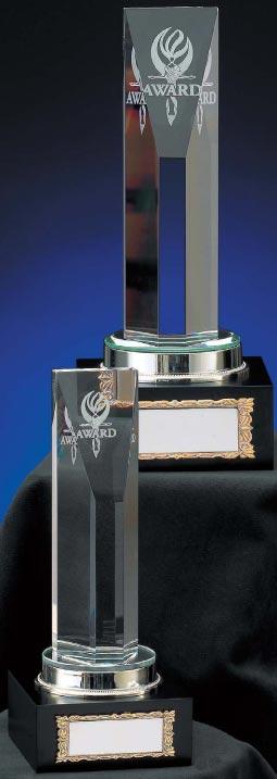 トロフィー:光学ガラス製トロフィー VT3076-B(高さ220mm)【文字彫刻無料】【送料無料】[M/K7]