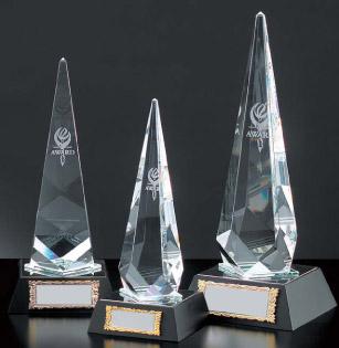 光学ガラス製トロフィー(高さ220mm)VT3077-B【文字彫刻無料】【送料無料】[M/K8]