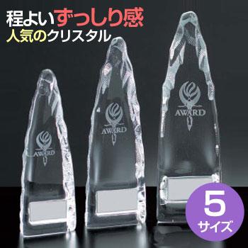 ガラス製トロフィー(高さ210mm)VT3125-C【文字彫刻無料】【送料無料】[M/P19S]
