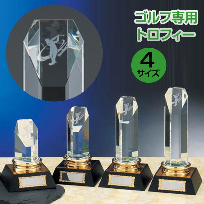 ゴルフ専用光学ガラス製トロフィー(高さ240mm)VT3368-A【文字彫刻無料】【送料無料】[M/K8]