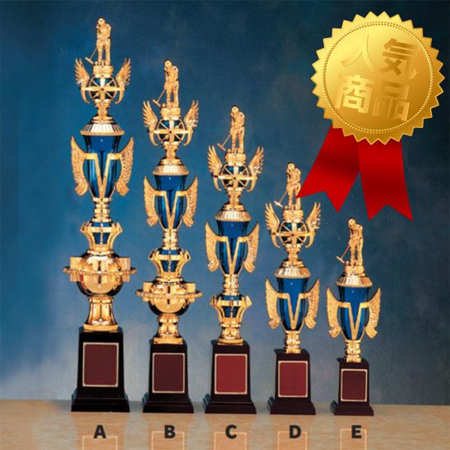 選べるトロフィー人形100種以上 トロフィー:色違いトロフィー青 高さ375mm VTX3733-D 文字彫刻無料 #02 新作 国内即発送 大人気 M