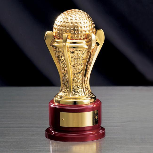 ゴルフ専用ボール型トロフィー(高さ185mm)BR2633【文字彫刻無料】【送料無料】[S/MGH40]