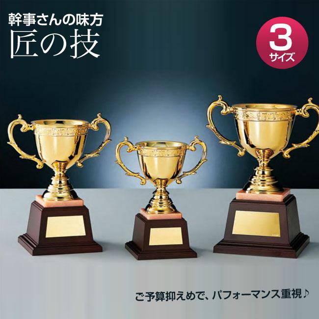 優勝カップ:「匠の技」樹脂成型カップ GOLD(高さ225x口径95mm)N0-2771-A【文字彫刻無料】[S/#BBG-3]