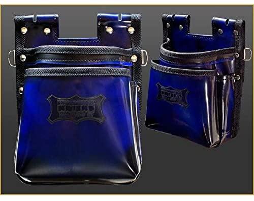 ニックス ADV-201TB-BL ブルー 鳶職向仕様ツーウェイタイプ ガラス革2段腰袋 青色 腰袋 腰道具 工具差し 在庫あり