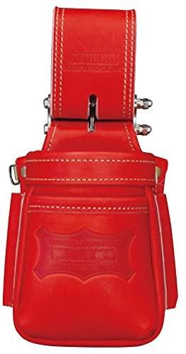 ニックス チェーン式最高級硬式グローブ革小物腰袋 レッド KGR-201VADX 腰道具 ◆在庫限り◆ 腰袋 初売り