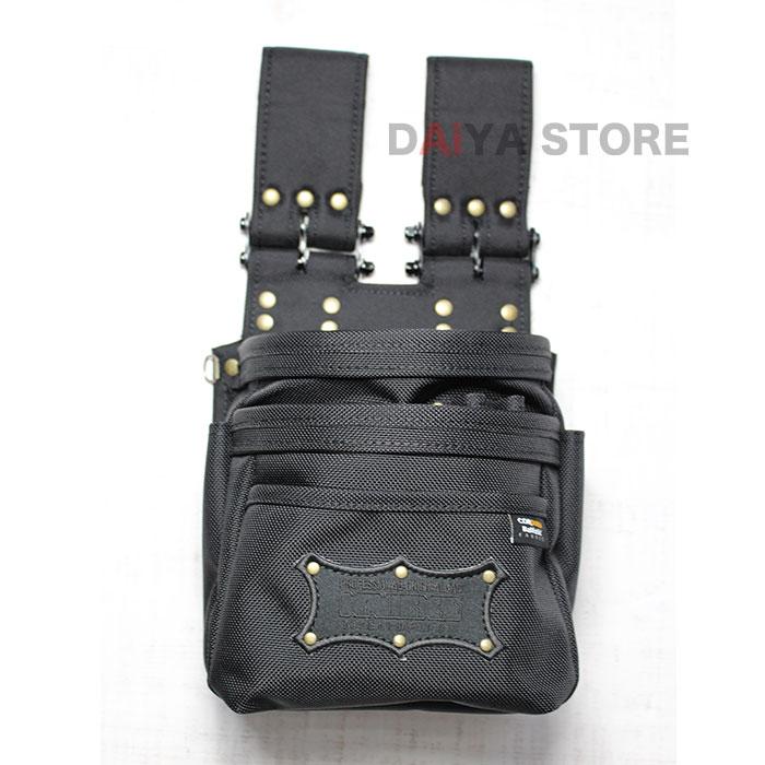 激安通販 格安SALEスタート ニックス 腰袋 チェーンタイプ オールバリステック 腰道具 BA-301DDX 工具差し 3段腰袋