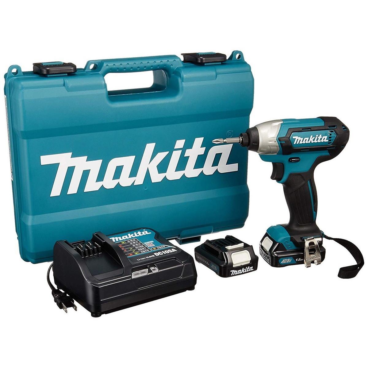 マキタ/makita 充電式インパクトドライバ 1.5Ah (バッテリー・充電器・ケース付) TD110DSHX
