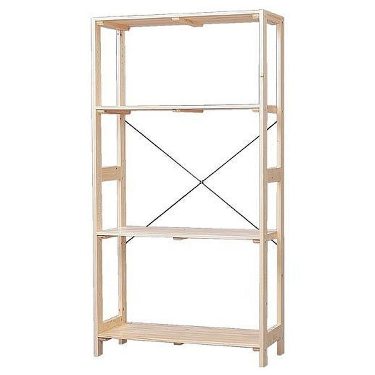 アイリスオーヤマ IRIS OHYAMA WOR-8315 ラック 木製 ウッディラック 幅83.5×奥行35×高さ147cm クリア インテリア 収納 収納棚【クーポン配布中】