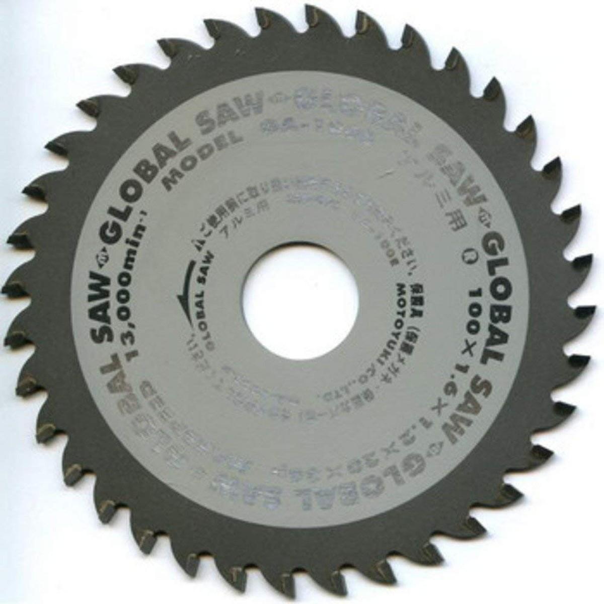 モトユキ グローバルソー アルミ・非鉄金属用 GA-100E 100×1.6×20mm 36P【クーポン配布中】