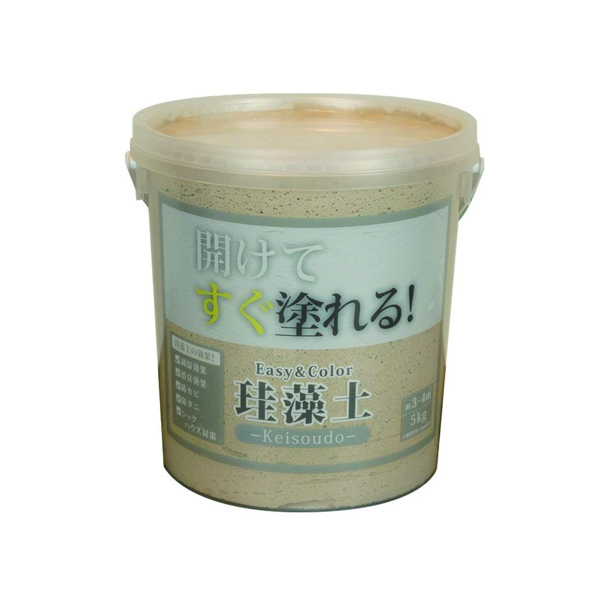 ワンウィル Easy&Color珪藻土 5kg キャメル 3793060006【クーポン配布中】