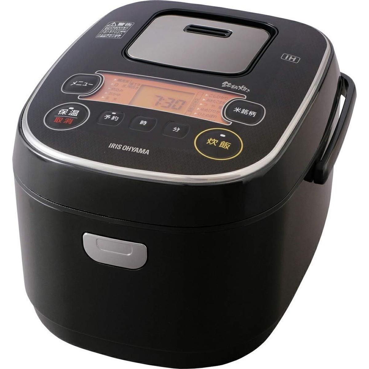 【エントリーでポイント10倍!!】アイリスオーヤマ 炊飯器 IH式 5合 銘柄炊き分け機能付き RC-IE50-B