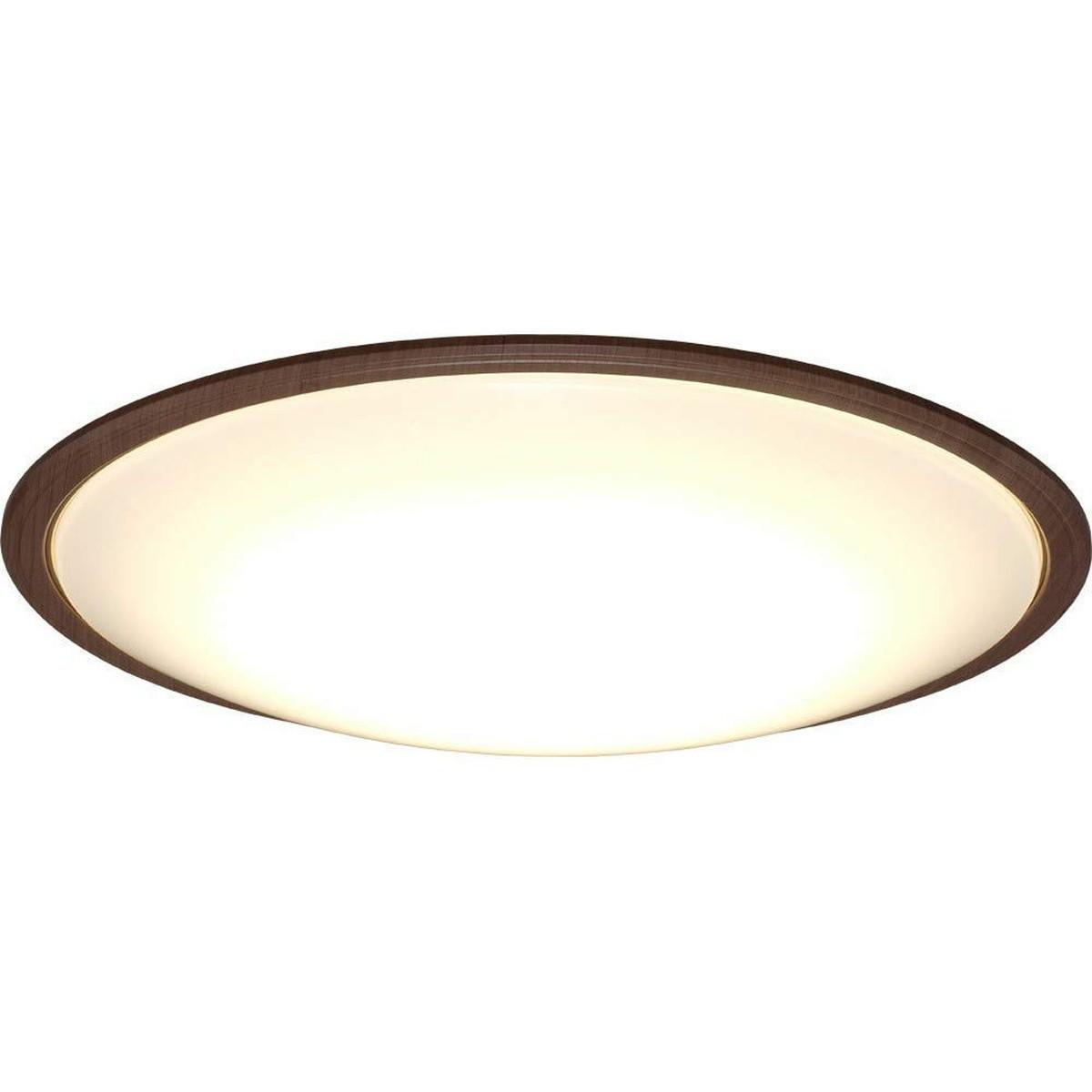 アイリスオーヤマ LED シーリングライト 調光 調色 タイプ ~12畳 メタルサーキットシリーズ ウッドフレーム ウォールナット CL12DL-5.1WFM【クーポン配布中】