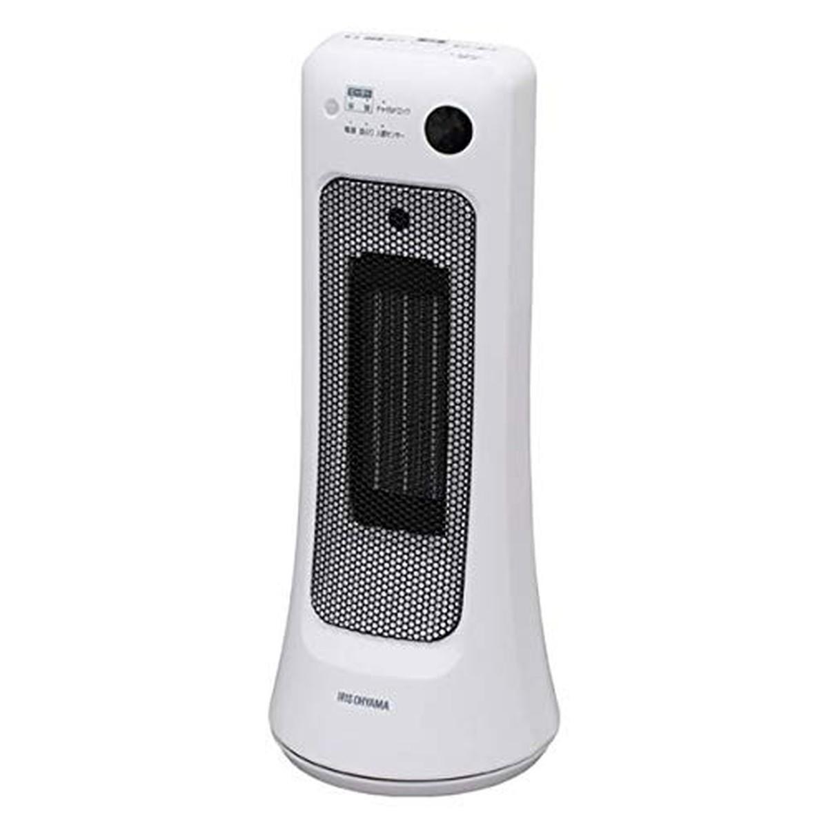アイリスオーヤマ セラミックヒーター 首振り室温センサー ホワイト JCH-12ST【クーポン配布中】