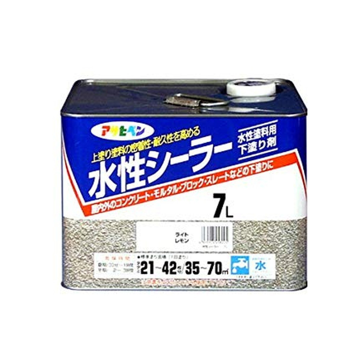 アサヒペン 水性シーラー ライトレモン 7L【クーポン配布中】