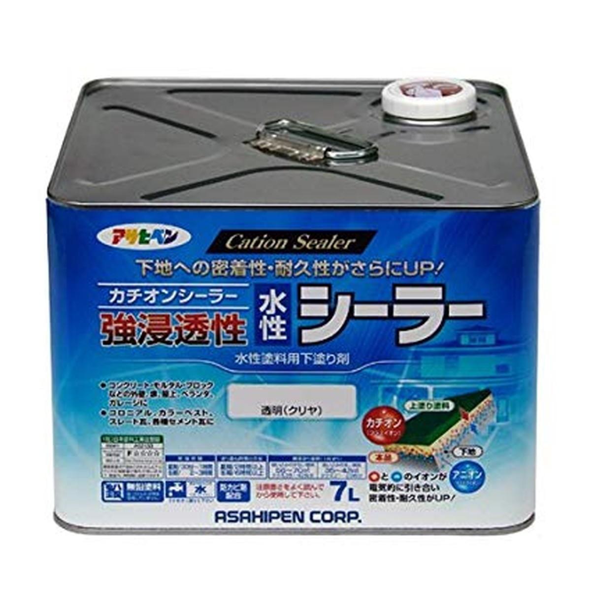 アサヒペン 強浸透性水性シーラー 透明(クリヤ)7L【クーポン配布中】