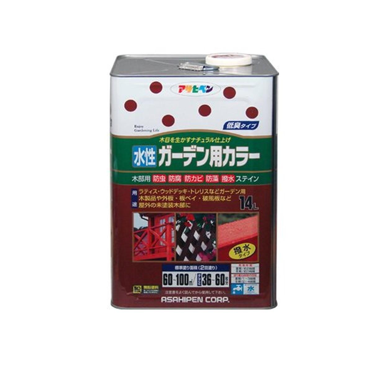 アサヒペン 水性ガーデン用カラー 14L 透明(クリヤ)