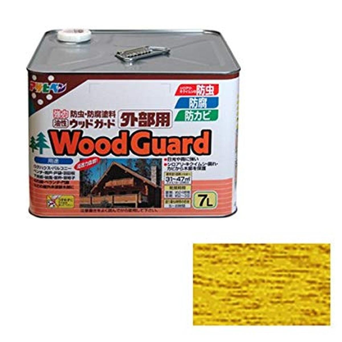 アサヒペン ウッドガード外部用 7L パイン 15【クーポン配布中】