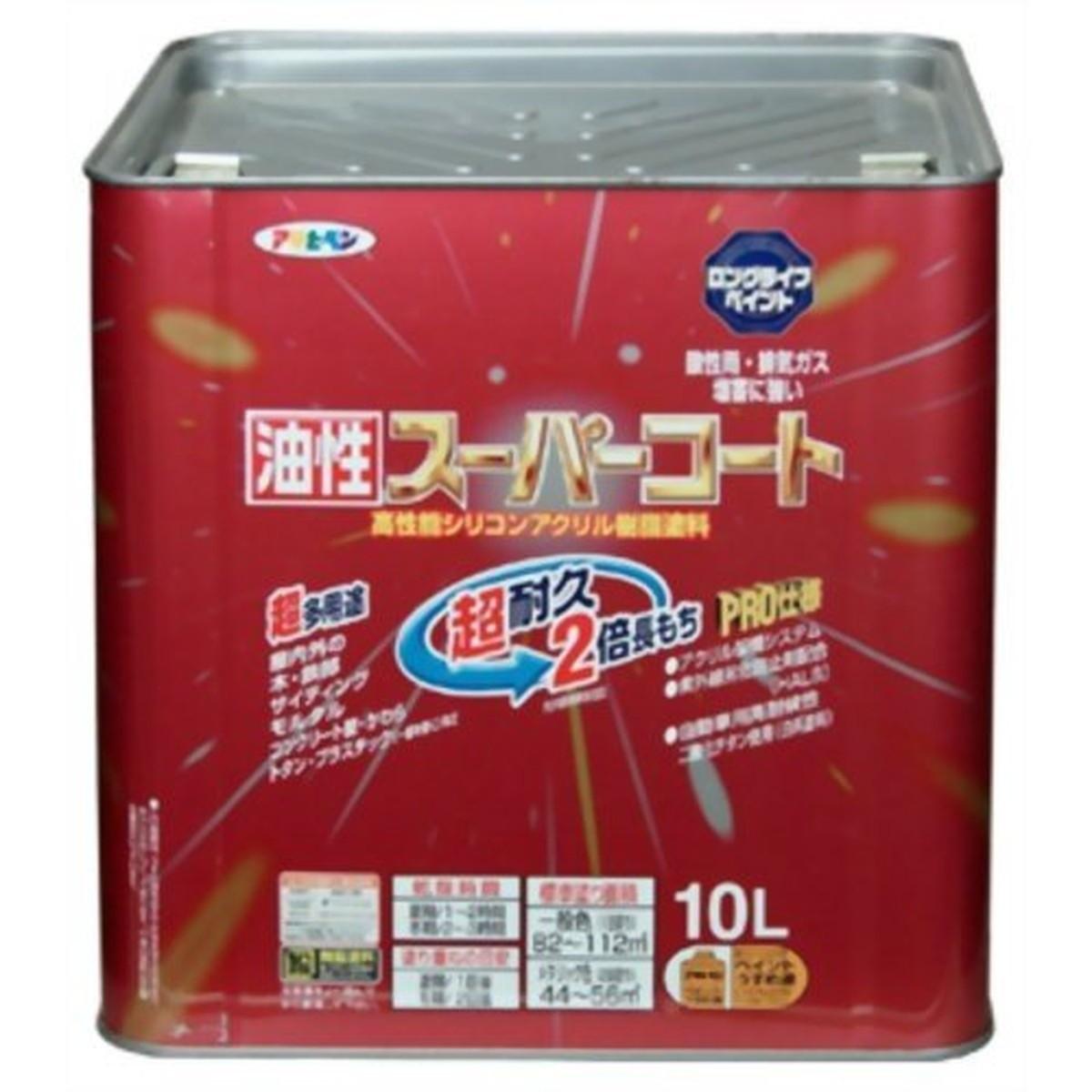 アサヒペン 油性スーパーコート 10L 白【クーポン配布中】