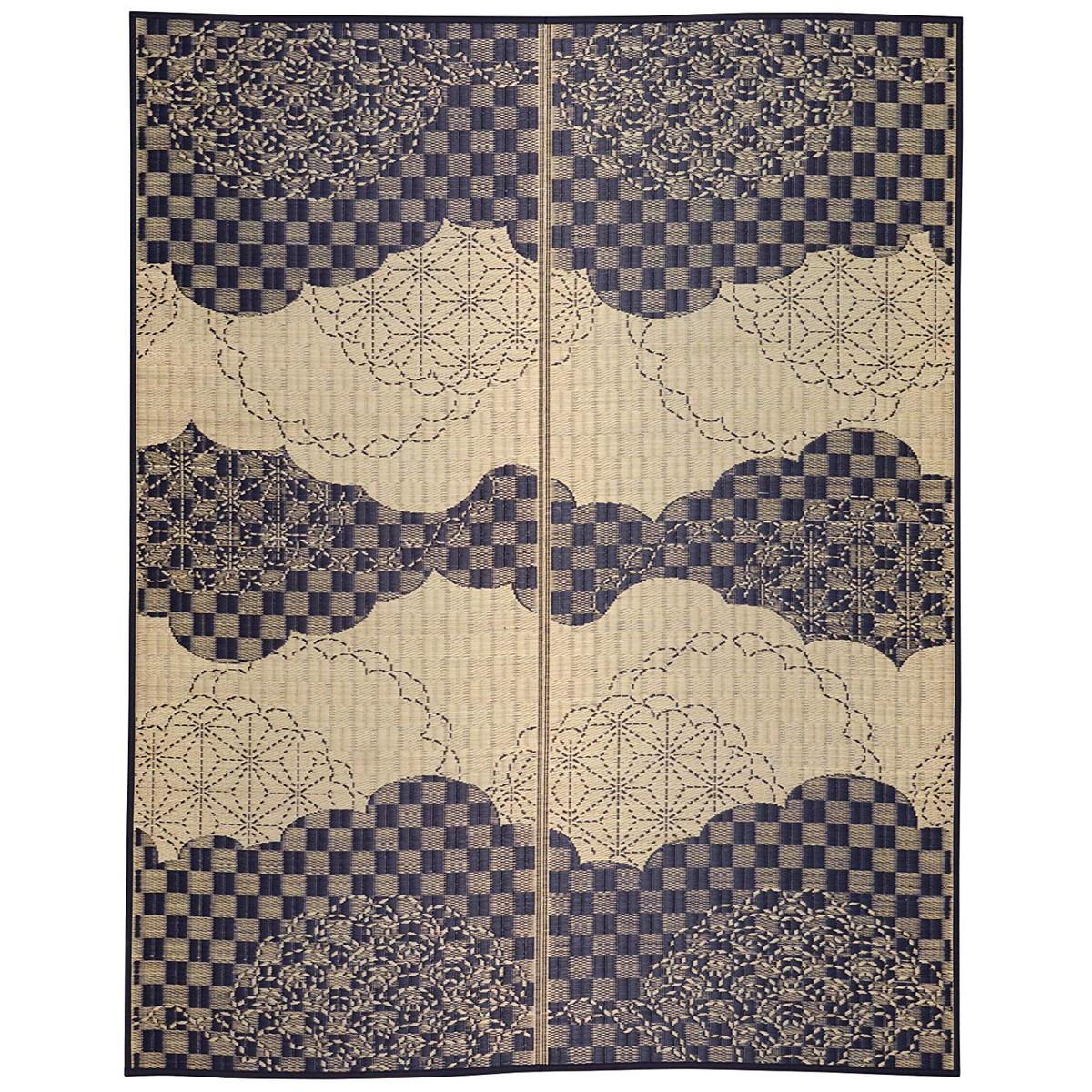 い草センターラグ(裏貼り) WATSUMUGI 約176×176cm 日本各地の伝統柄を表現した「和美模様」シリーズ!【クーポン配布中】