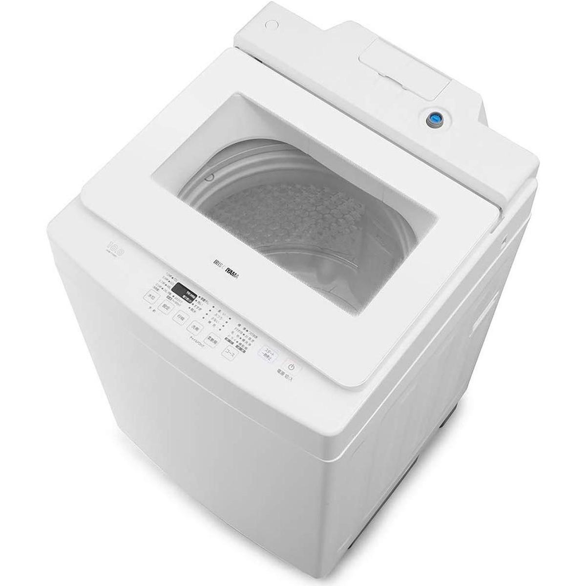 【I】【代引不可】アイリスオーヤマ 洗濯機 10kg 全自動洗濯機 自動洗剤投入 幅58.6cm ホワイト IAW-T1001