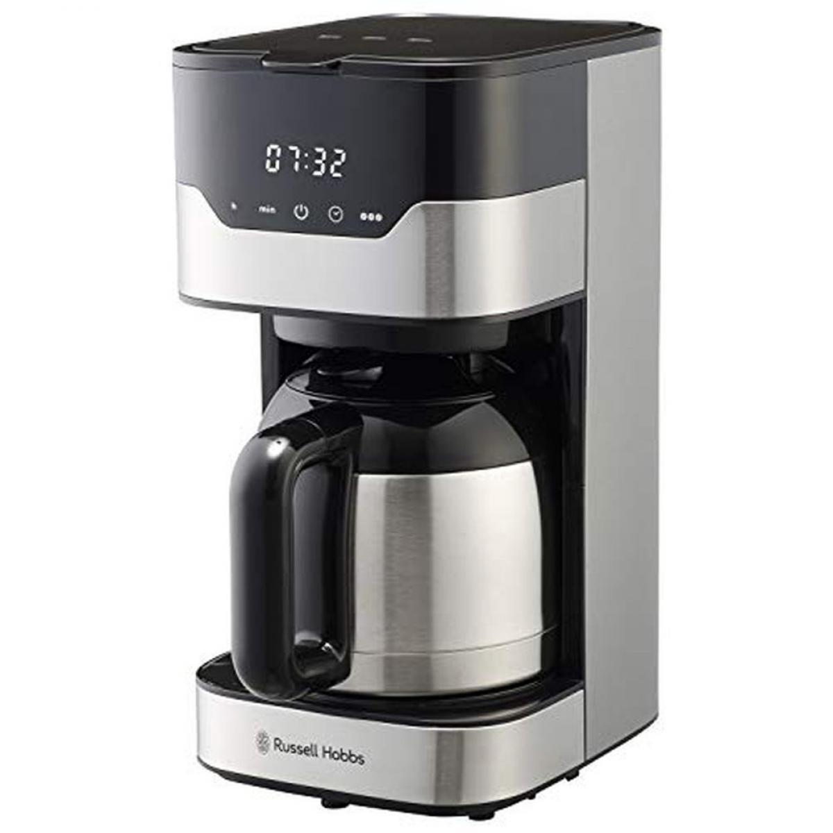 ラッセルホブス コーヒーメーカー グランドリップ 8杯 ペーパーフィルター不要 タイマー 7653JP