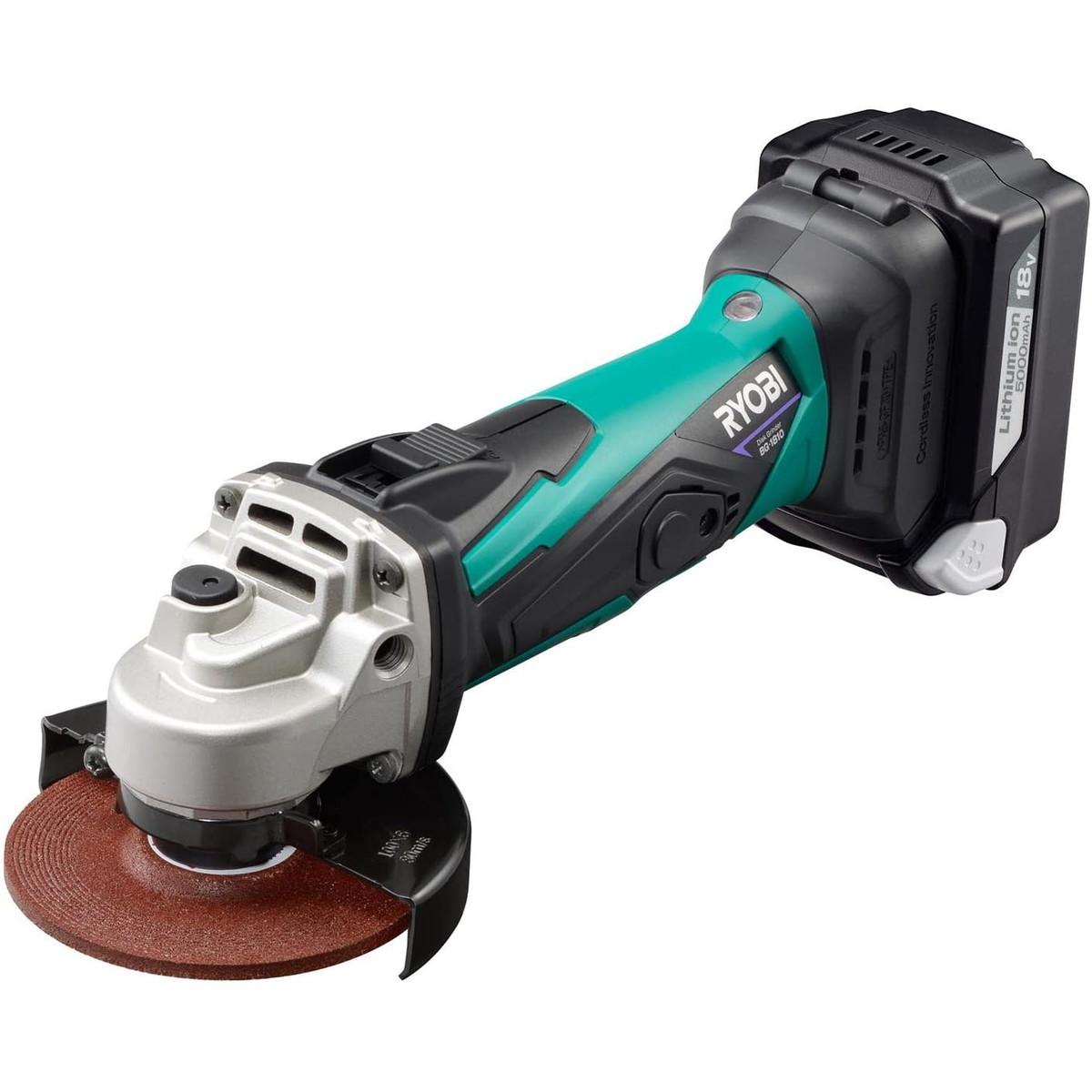 リョービ/Ryobi (AAEWE) 充電式ディスクグラインダ BG-1810L5 623409B 電池パック・充電器付