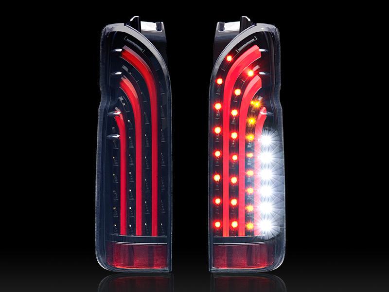 ハイエース LEDテール 200系 1-5型 バッドテール BAD TAIL レッドバー BAD-RED 415コブラ (CB-H200-BT301