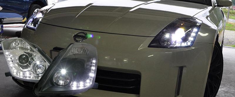 フェアレディZ ヘッドライト Z33 後期用 LEDラインヘッドライト Z33 HZ33 350Z ロードスター 78WORKS (S111