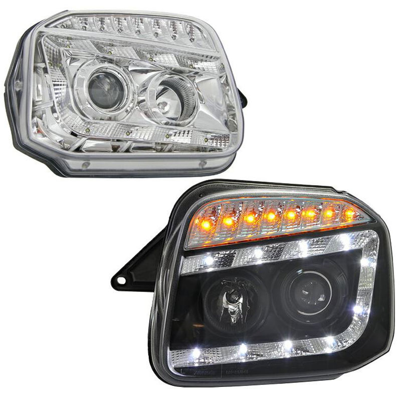 ジムニー ヘッドライト JB23W LEDラインヘッドライト シーケンシャルウインカー 流れるウインカー 78WORKS (J199