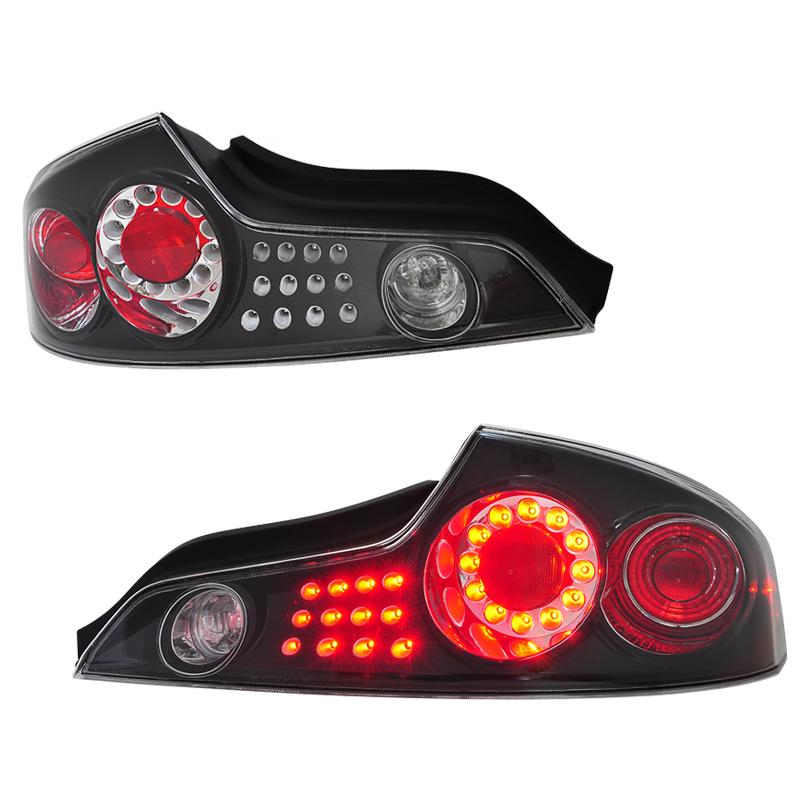 スカイラインクーペ LEDテール V35 LEDテールランプ ブラック CPV35 G35 US インフィニティ 78WORKS (D064BK