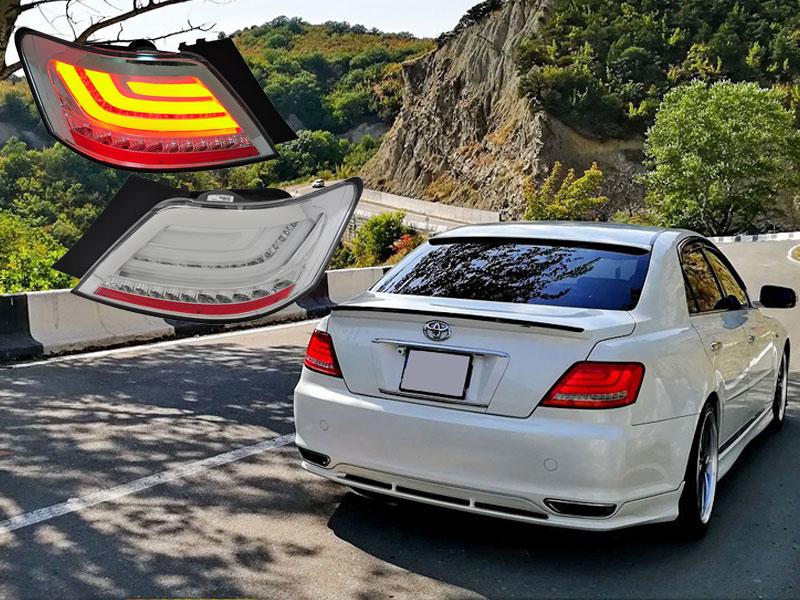 マークX LEDテール GRX120系 ファイバーテールランプ V2 流れるウィンカー シーケンシャルウインカー 78WORKS (L167