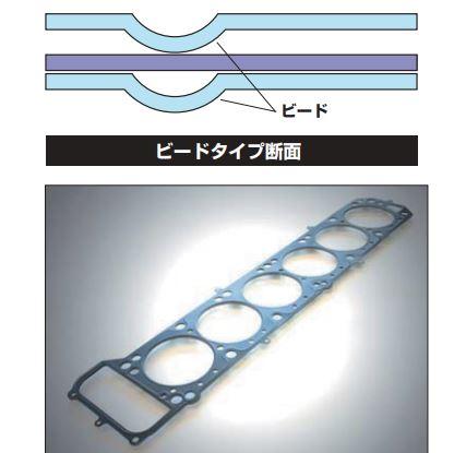 4K メタルヘッドガスケット ボア径76/80.5φ 3.0mm ビードタイプ 亀有エンジンワークス【差替】