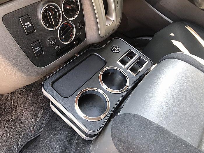 Seasonal Wrap入荷 リムコーポレーション NV350キャラバン テーブル E26 全品送料無料 RIM USBホルダー付フロントセンタードリンクホルダーV2 リム G22-35#