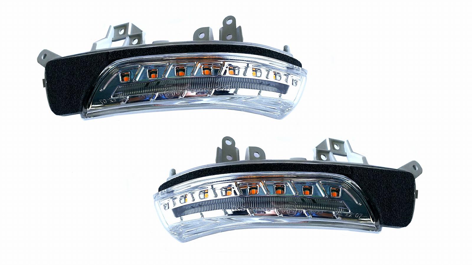 クラウン LEDドアミラーウインカー GRS200系 シーケンシャルウインカー クリア CLEARWORLD/クリアワールド (DWT-01