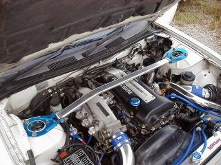 シルビア ストラットバー S14 フロントストラットバー typeOS カワイワークス (NS0380-FTO-00