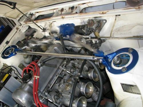 ブルーバード ストラットバー P510 (ソレックスキャブ車) フロントストラットバー typeSTD カワイワークス (NS0730-FTS-00