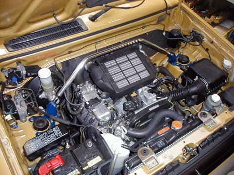 パジェロミニ ストラットバー H58A フロントストラットバー typeSTD カワイワークス (MT0210-FTS-00