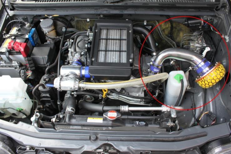 ジムニー レーシングサクション JB23W アルミ製 レーシングサクション Kudo-j/工藤自動車 (HK-70020-AS004