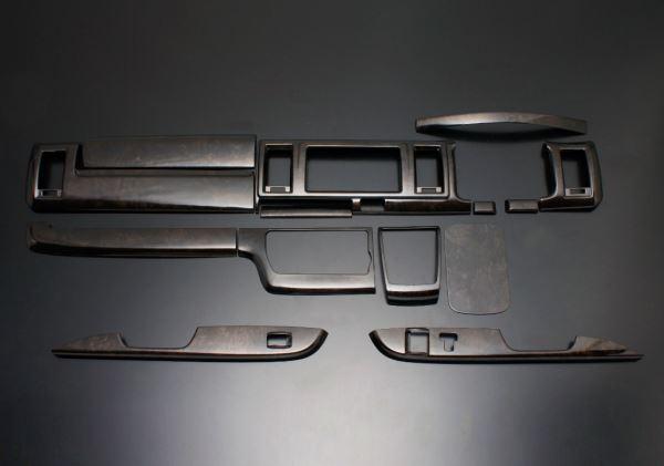ルナインターナショナル 代引不可 ハイエース インテリアパネル 14P 200系 2013/11- マホガニー LUNA/ルナ (PDL002W