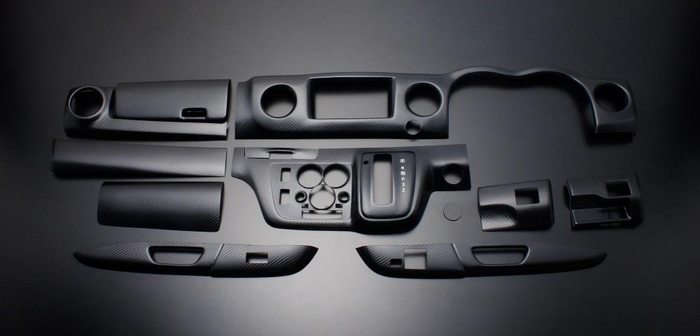 NV350キャラバン インテリアパネル 12P E26 2012/6- リアルカーボンルック LUNA/ルナ (PLNV350CA