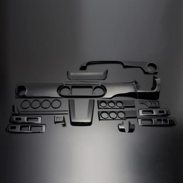 カローラルミオン インテリアパネル 25P 150系 2007/10-2016/1 ピアノブラック LUNA/ルナ (PLT364-126