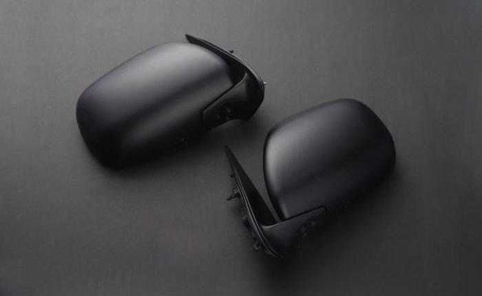 ハイエース ドアミラー 200系 純正交換タイプ 未塗装 リム/RIM (F42-001